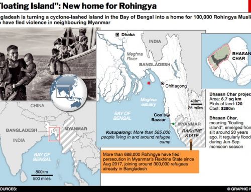 Rohingyas' floating Island